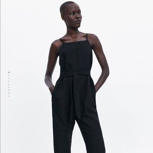 Zara Belted jumpsuit with straps